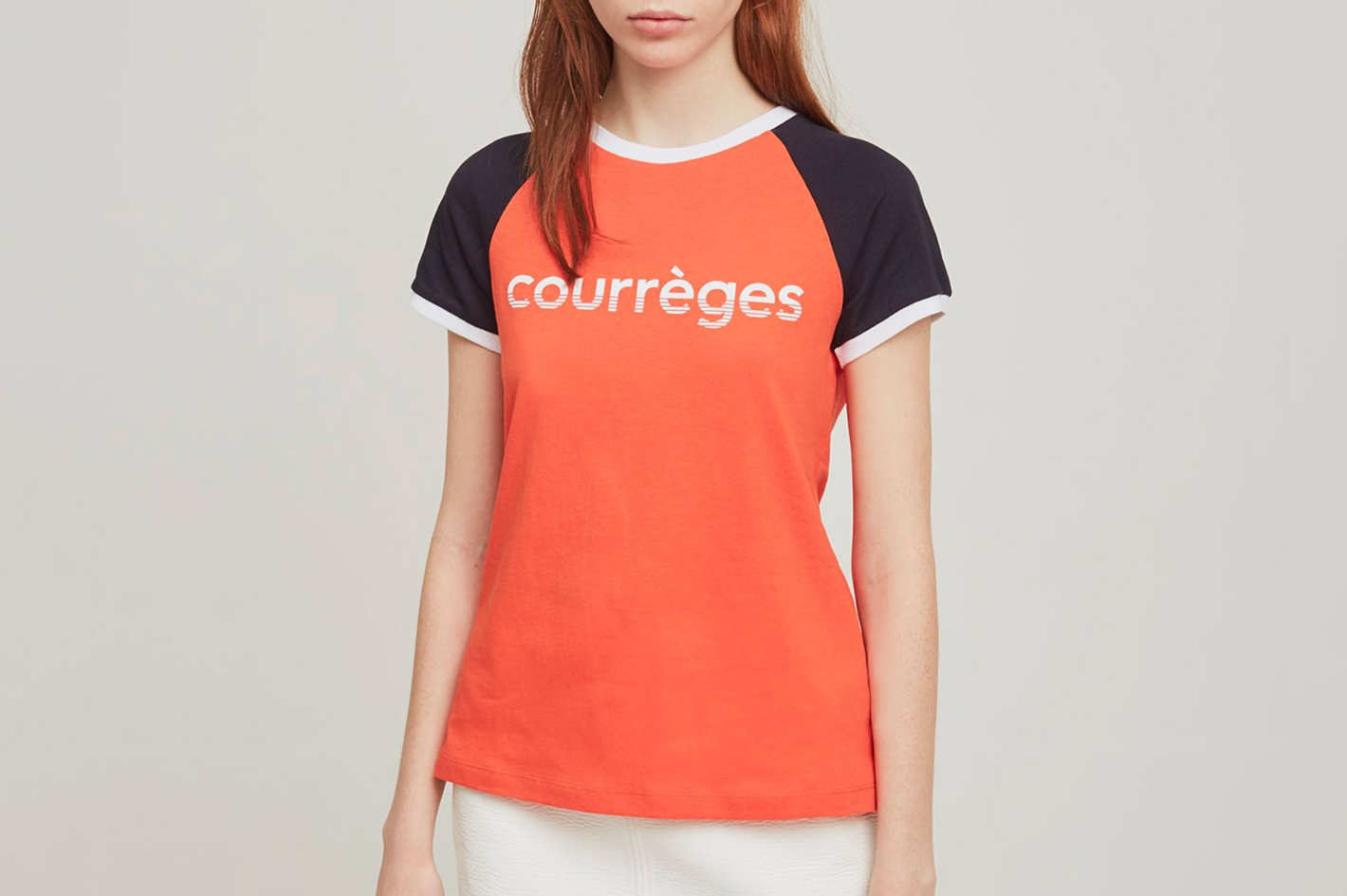 Courrèges Logo Color Block Tee