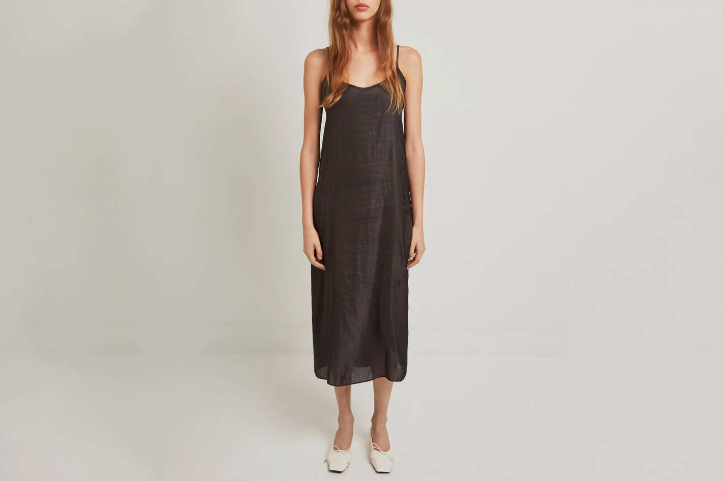 La Garçonne Moderne Portrait Long Slip Dress