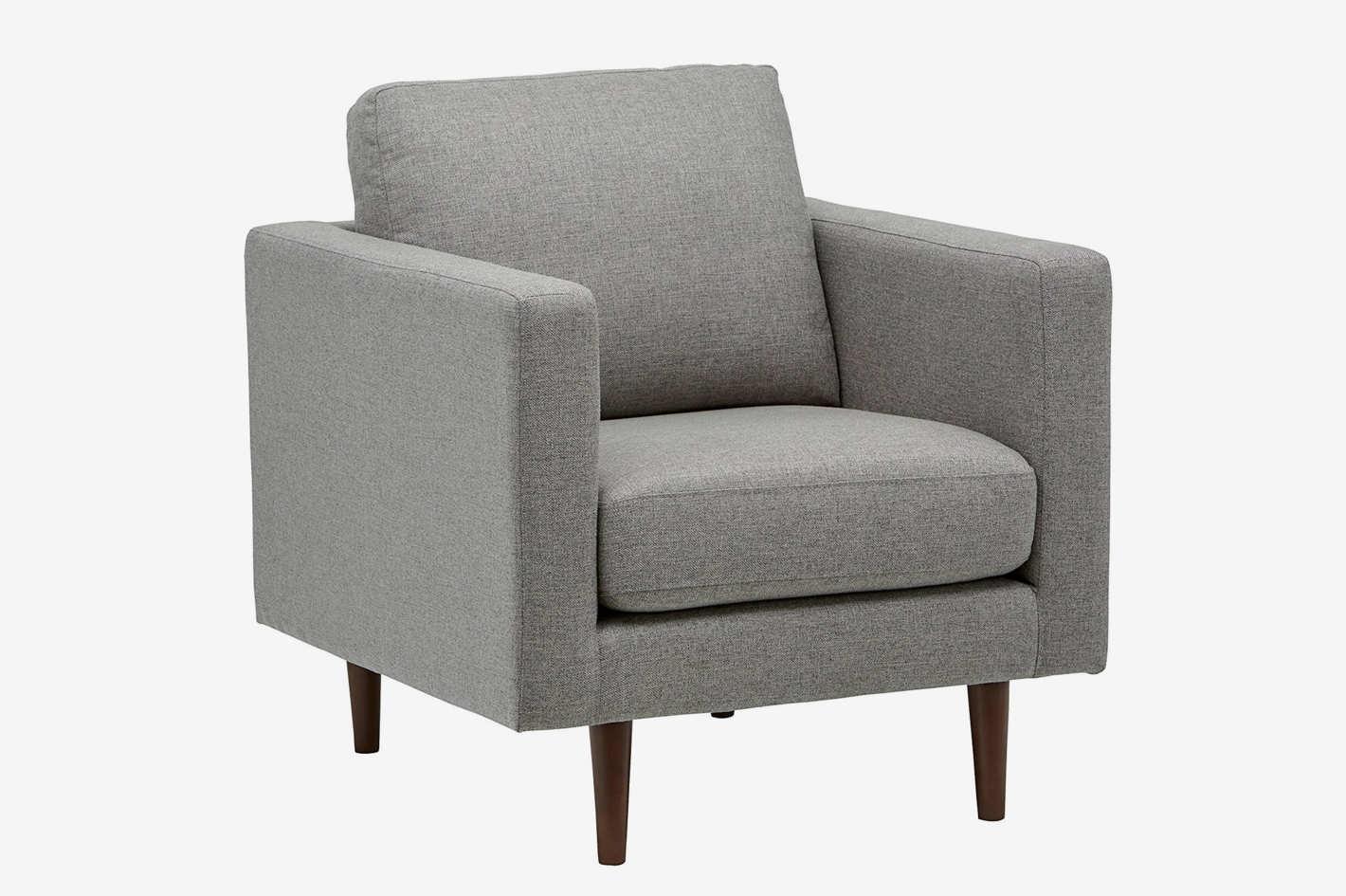 Rivet Revolve Modern Accent Chair Grey Weave Dane And Dine Folk
