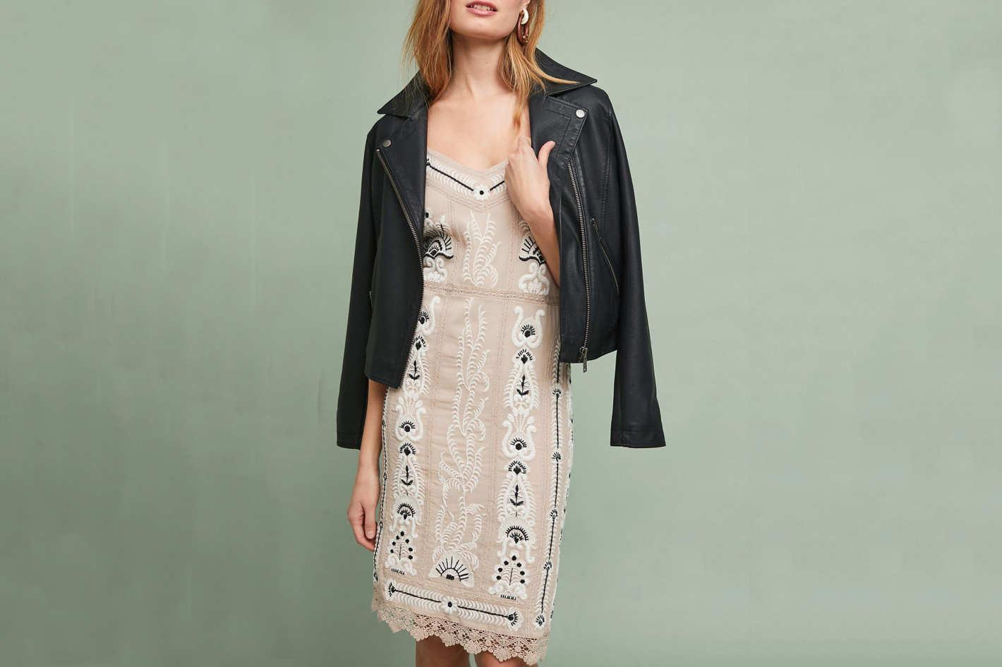 Maeve Embroidered Slip Dress