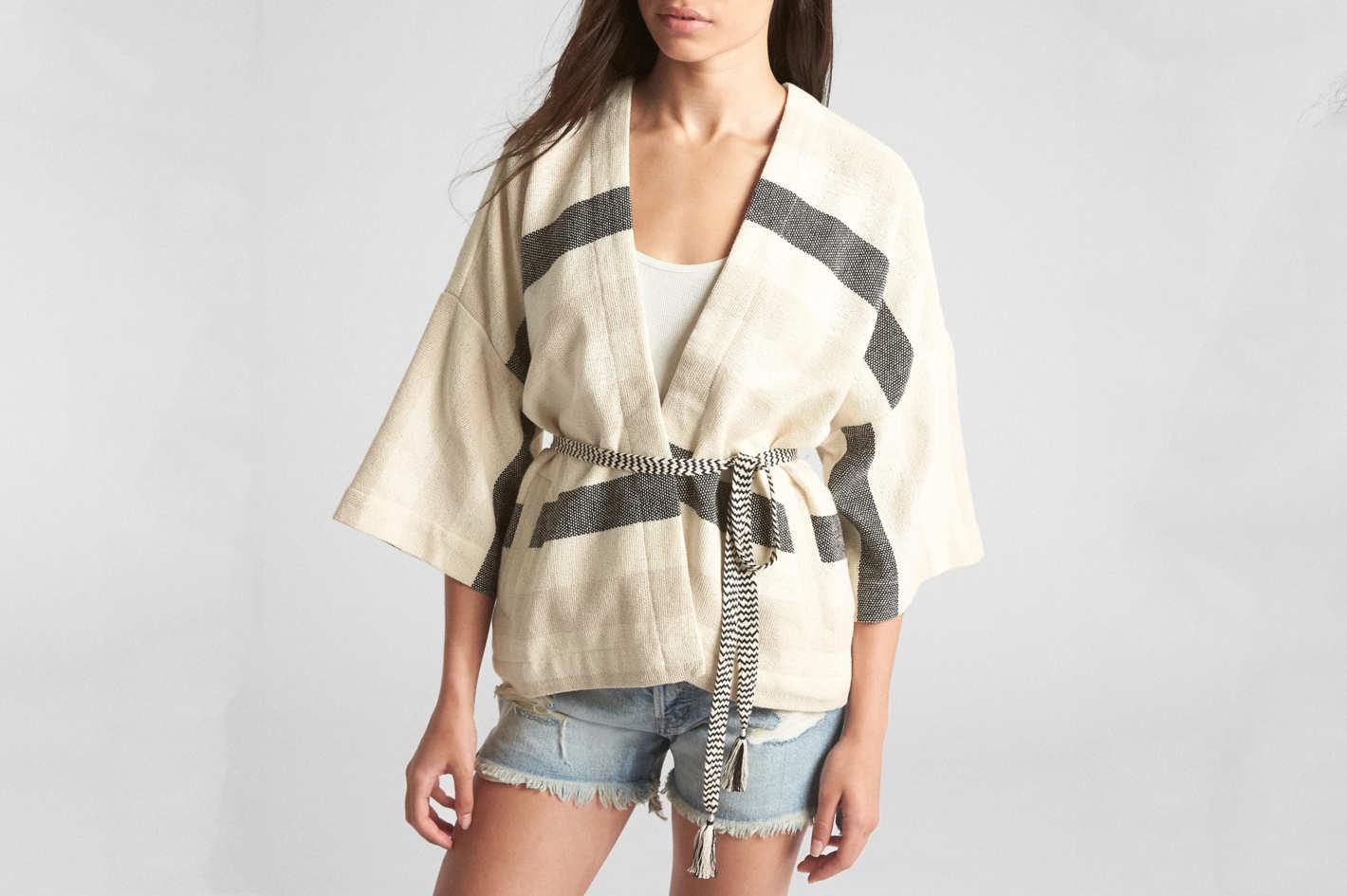Gap Basket-Weave Stripe Topper Jacket