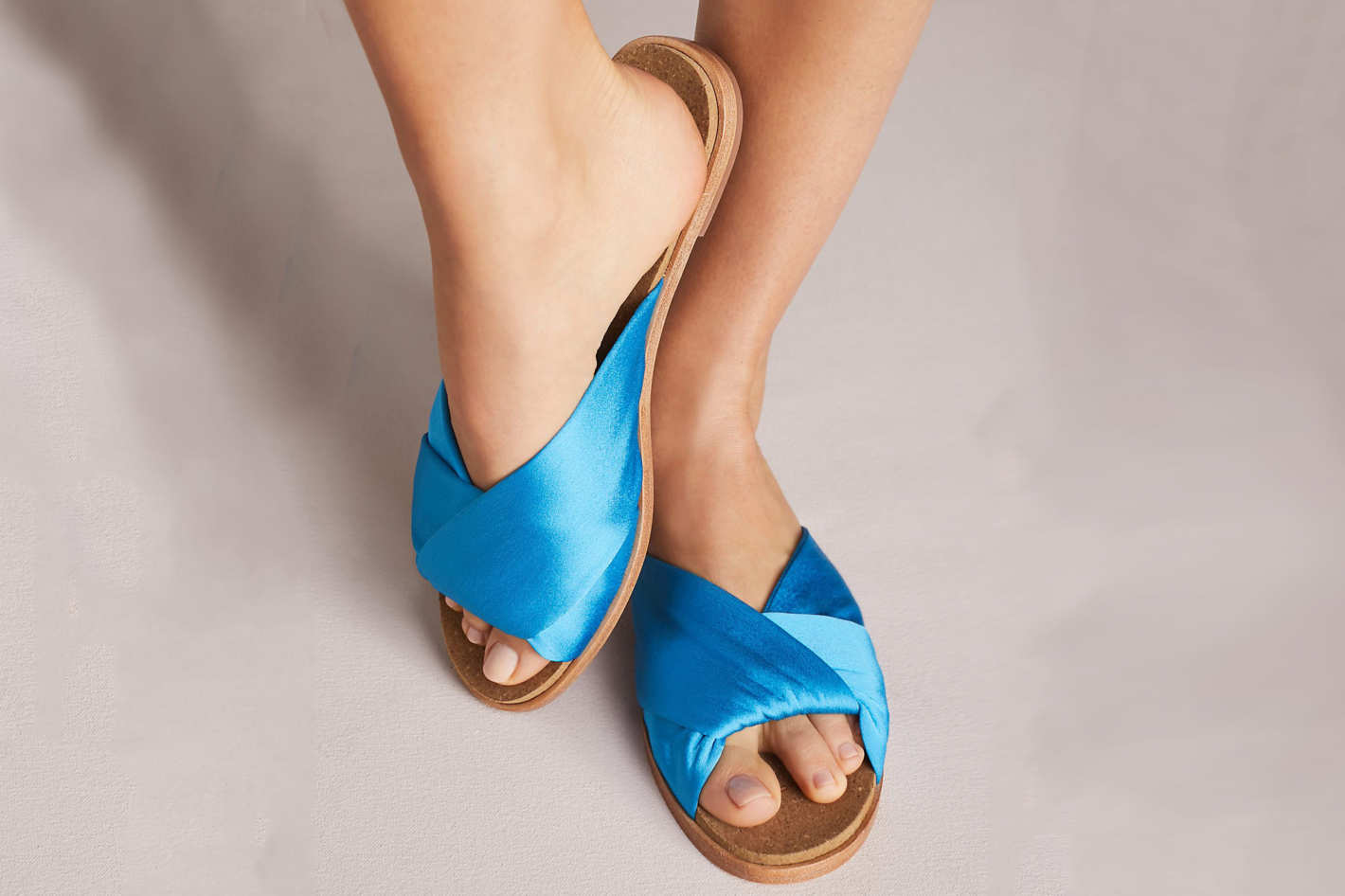 Anthropologie Criss Cross Satin Sandals