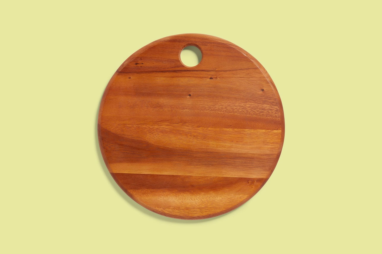 Be Home Small Round Acacia Wood Cheese Board