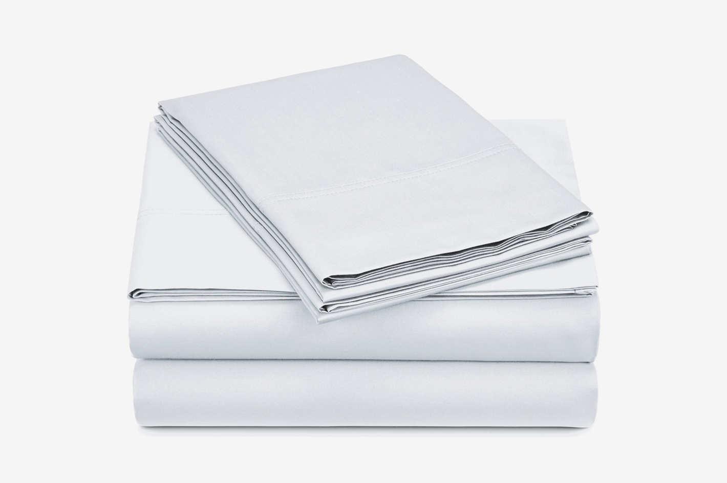 Pinzon 500-Thread-Count Pima Cotton Sateen Sheet Set — King, White