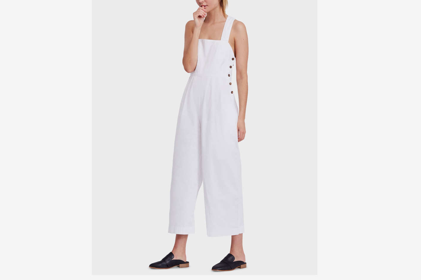 Free People Farah Cotton Crisscross Jumpsuit