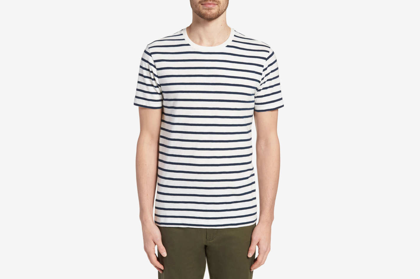 J.Crew Deck Stripe Slub Cotton T-shirt