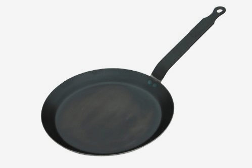 De Buyer HIC Crepe Pan, Blue Steel, Made in France, 8-Inch Cooking Surface