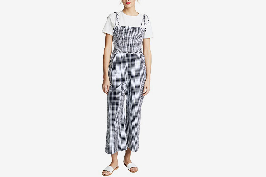 English Factory Sleeveless Smocked Jumpsuit