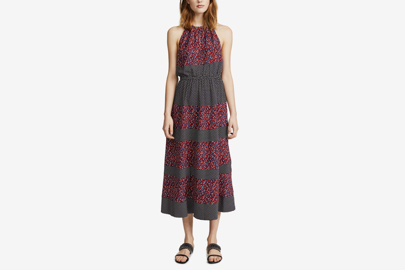 Robert Rodriguez Printed Halter Dress