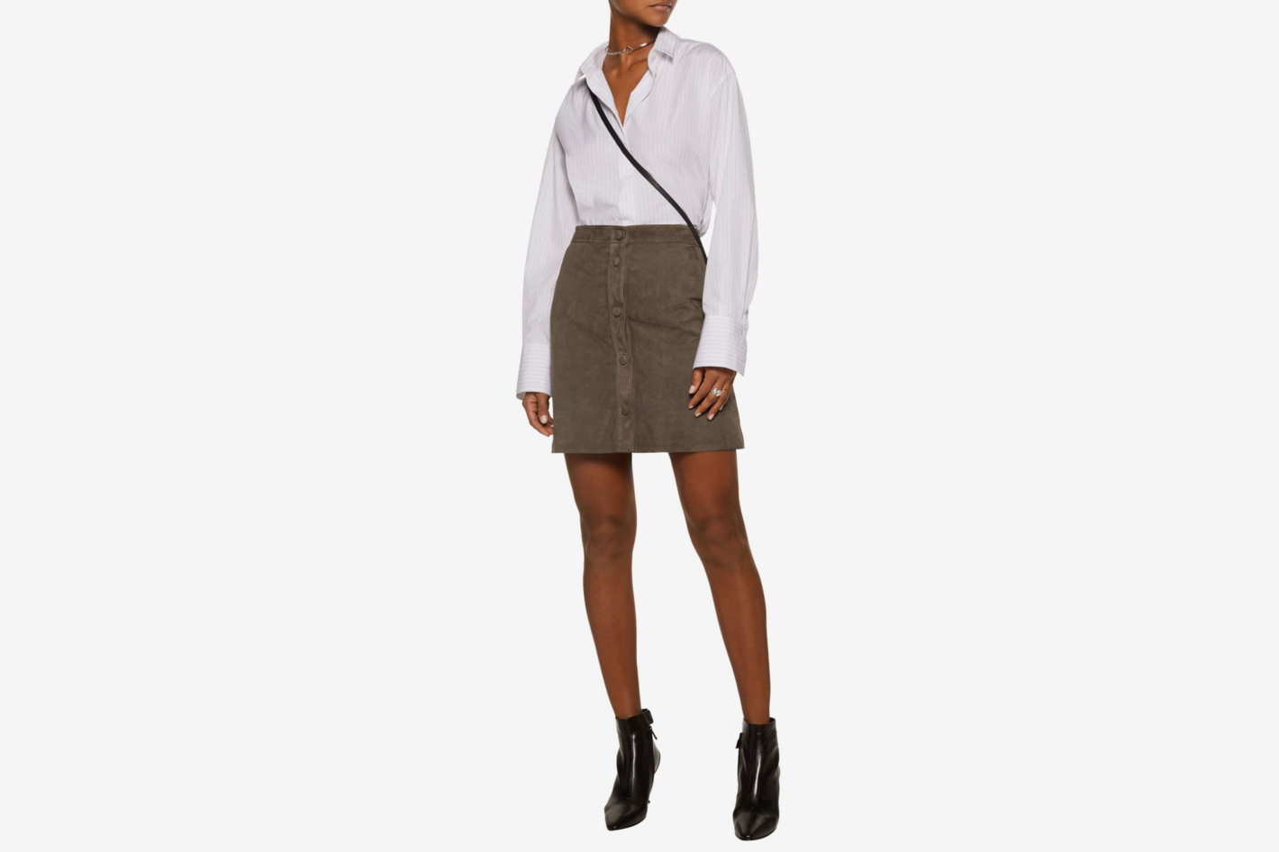 Helmut Lang Suede Mini Skirt
