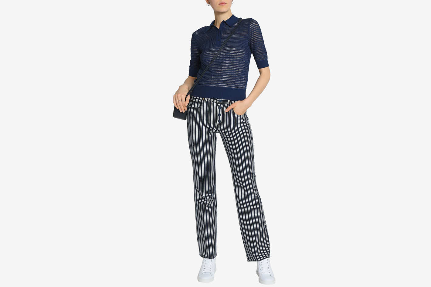 M Missoni Paneled Stretch-Knit Top