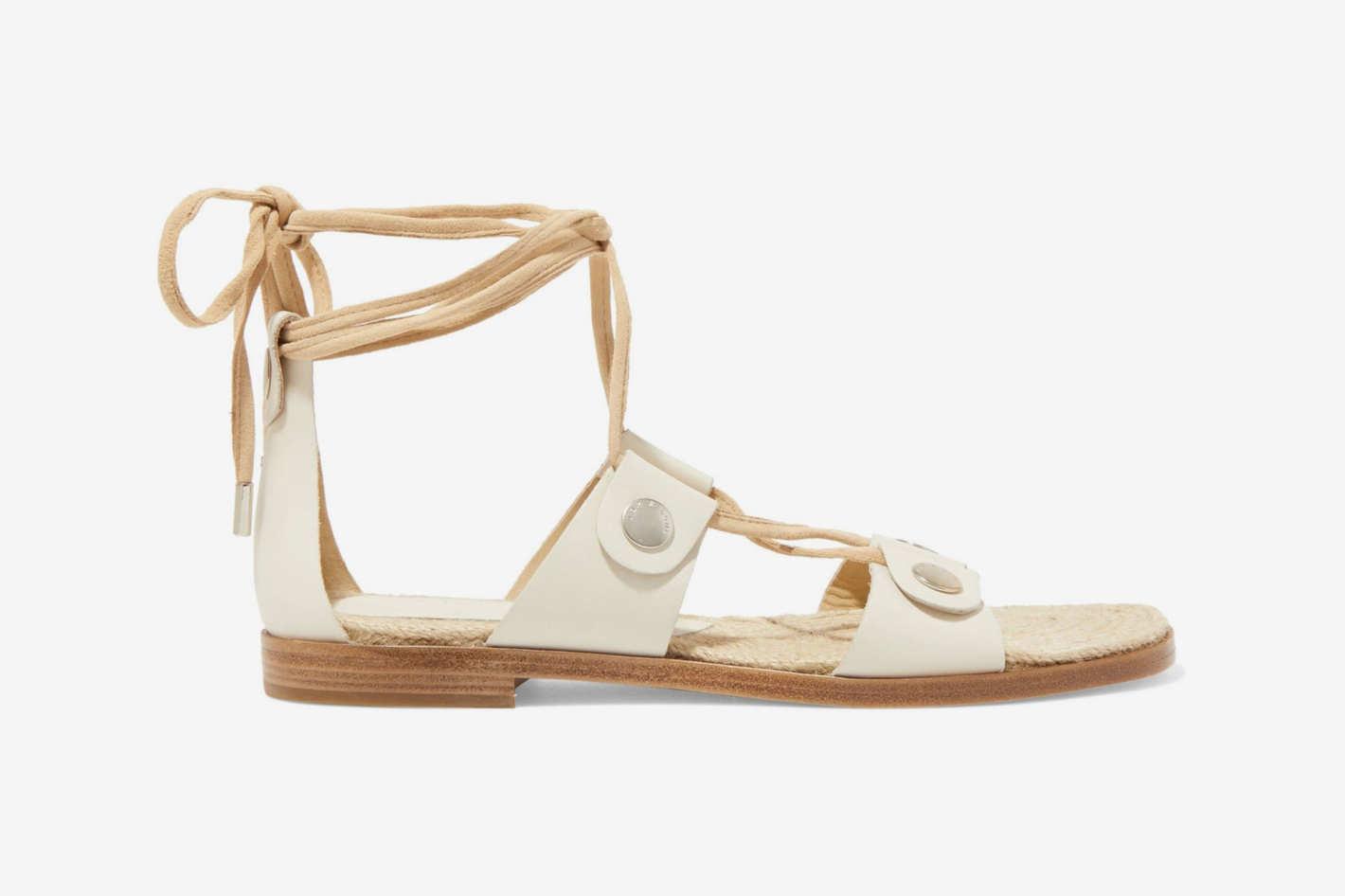 Rag & Bone Suede Trimmed Leather Sandals