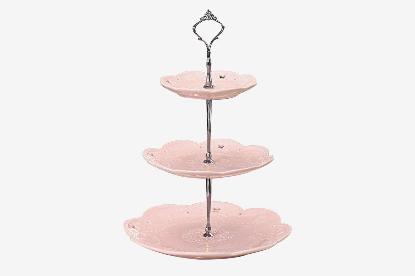 Jusalpha 3-Tier Ceramic Dessert Stand