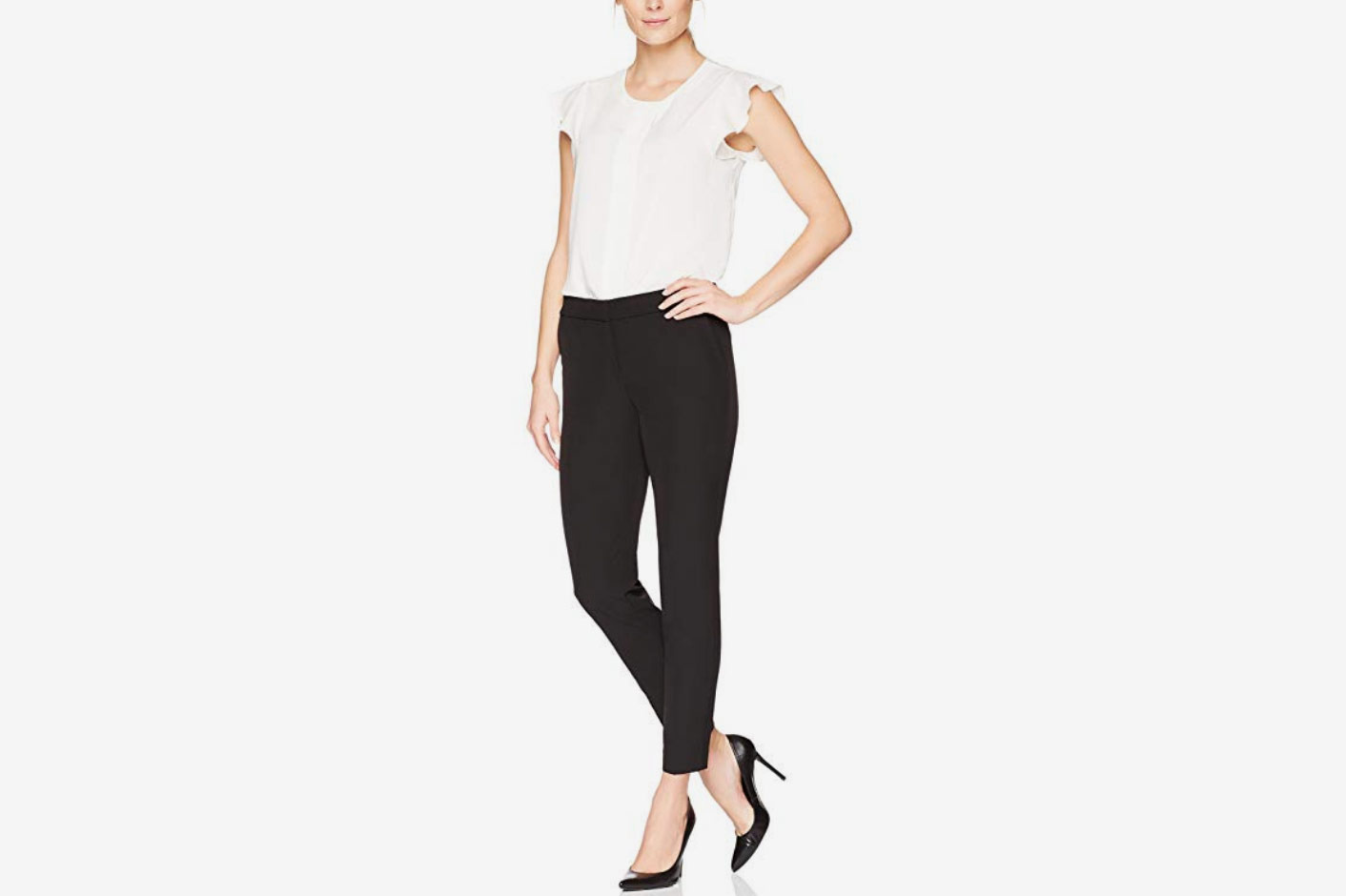 Lark & Ro Women's Slim Ankle Pant: Modern Fit