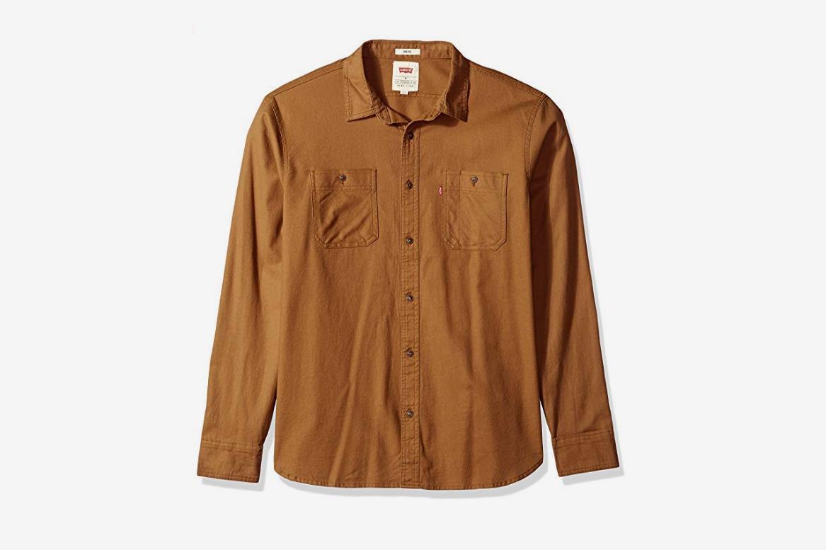 Levi's Men's Morphe Long Sleeve Stretch Twill Shirt