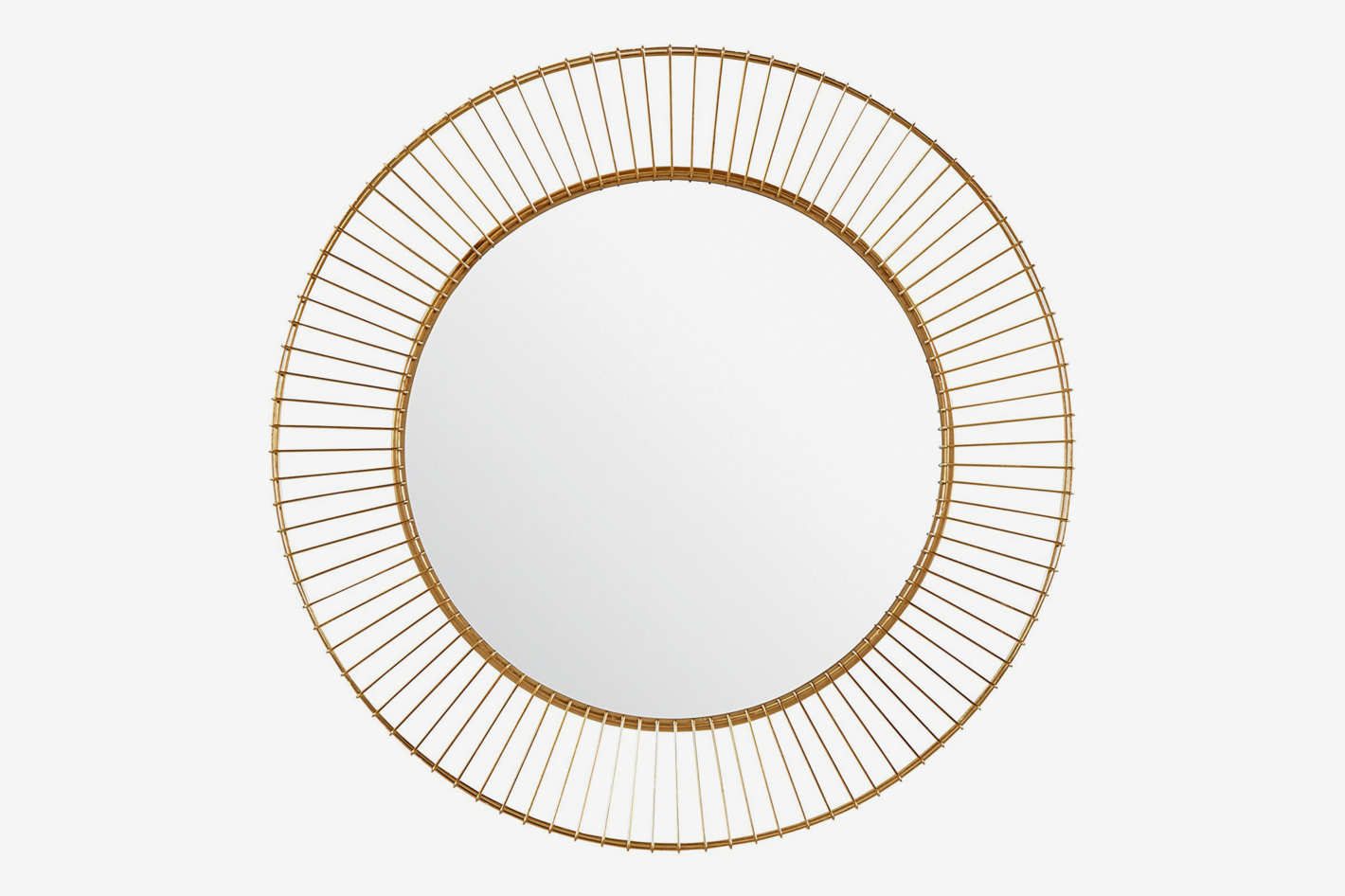 Rivet Modern Round Iron Circle Metal Mirror