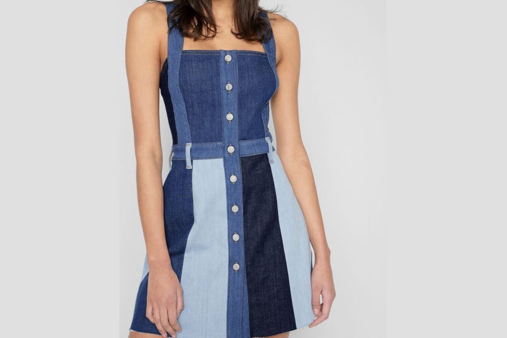 7 for All Mankind Patchwork A Line Dress in Patchwork Found