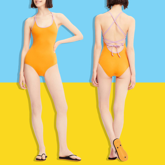 65a55b428c73b This Tomas Maier–Designed Uniqlo Bathing Suit Is Only  10 Today