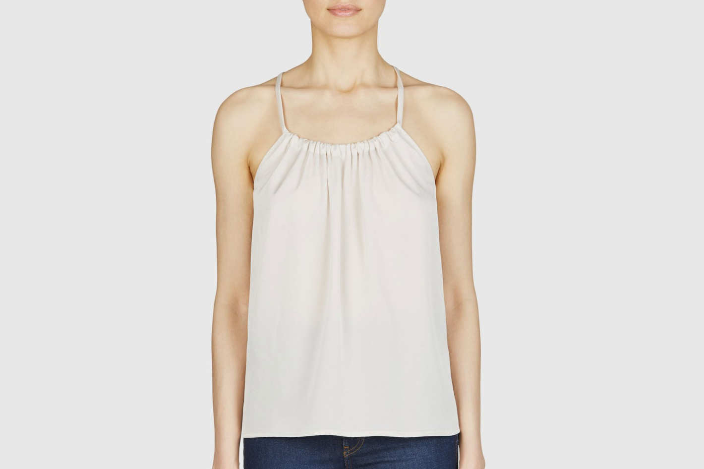 Vince Gathered Neck Cami Top
