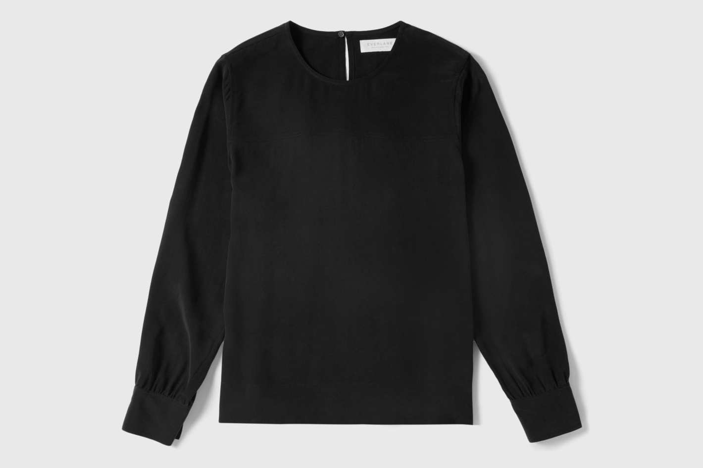 Everlane Silk Long-Sleeve Blouse