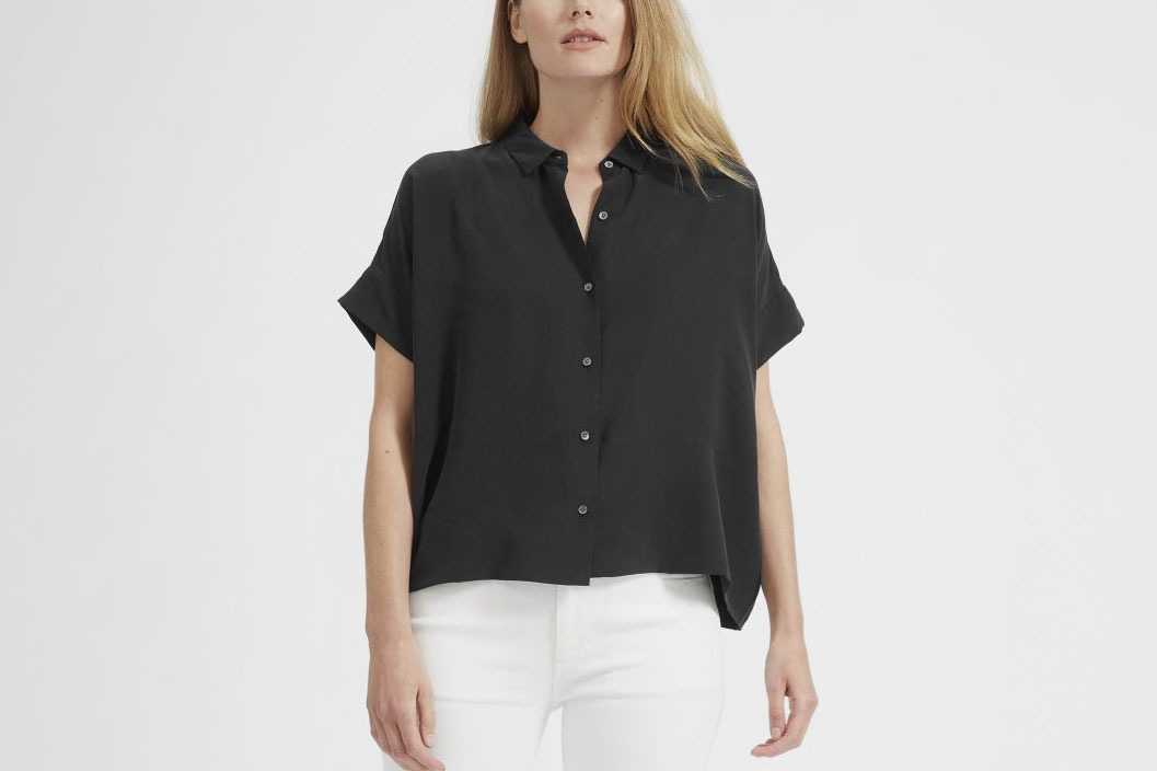5733d9e7657f32 Everlane Silk Shirts Camis Blouses on Sale 2018