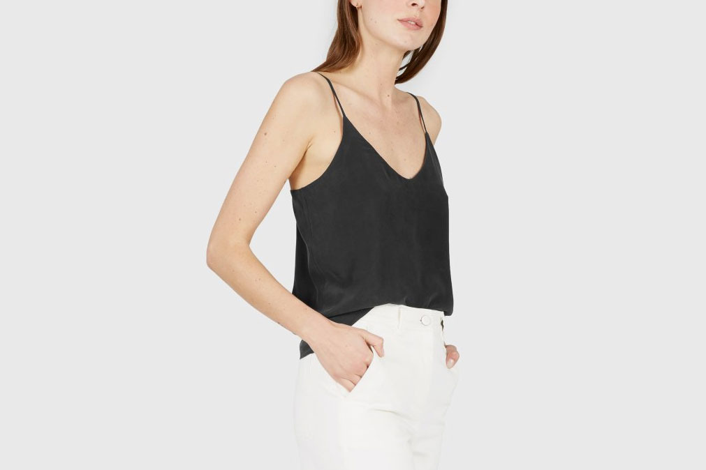 Everlane Double-Lined Silk V-Neck Cami