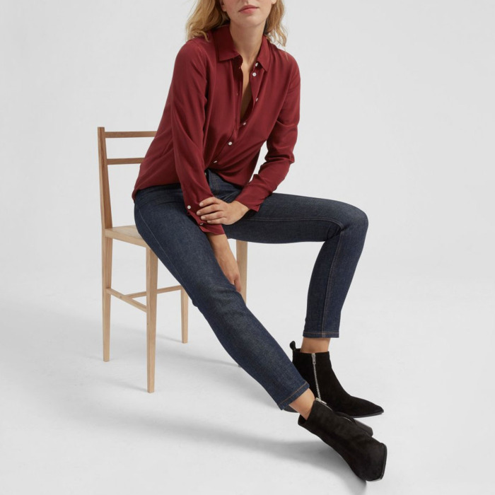 c6111f08393684 There Are a Lot of Breezy Silk Shirts on Sale at Everlane Right Now