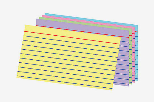 Office Depot Ruled Rainbow Index Cards, Pack Of 100