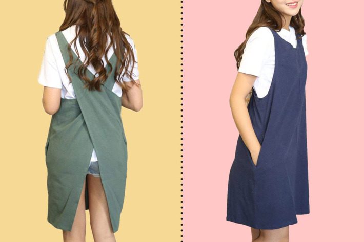 The BBYBBS linen Japanese style crossback apron — The Strategist reviews
