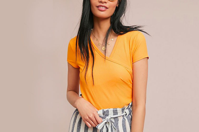 Maeve Bayadere Wrap Top