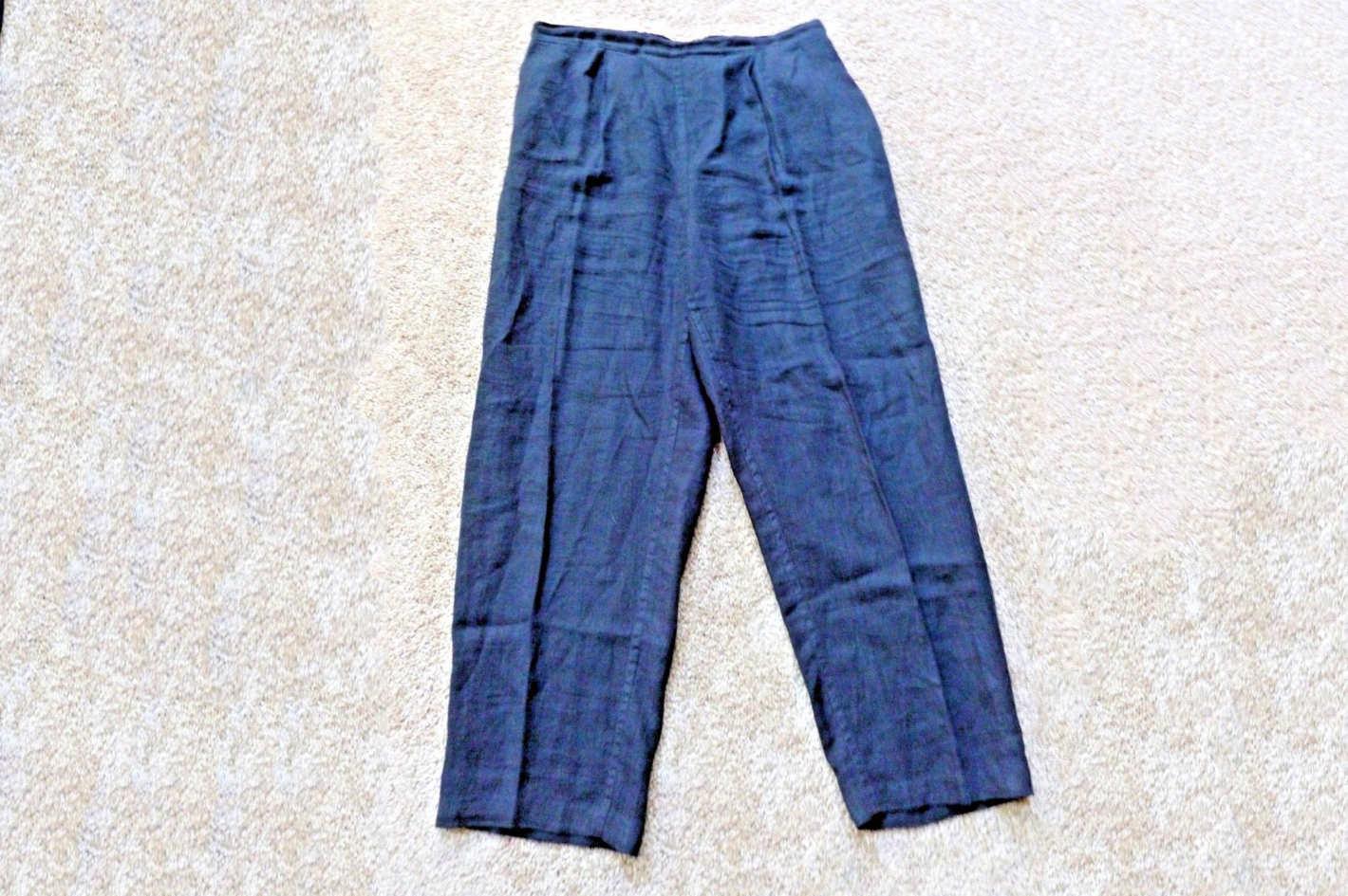 FLAX by Jeanne Engelhart Blue Linen Pants