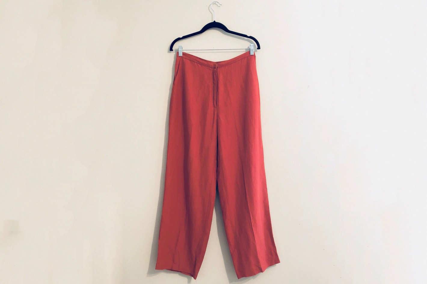 Eileen Fisher Linen/Silk Straight Leg Dress Pants