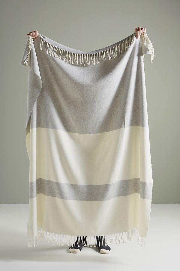 Lands Downunder Sydney Herringbone Stripe Throw Blanket