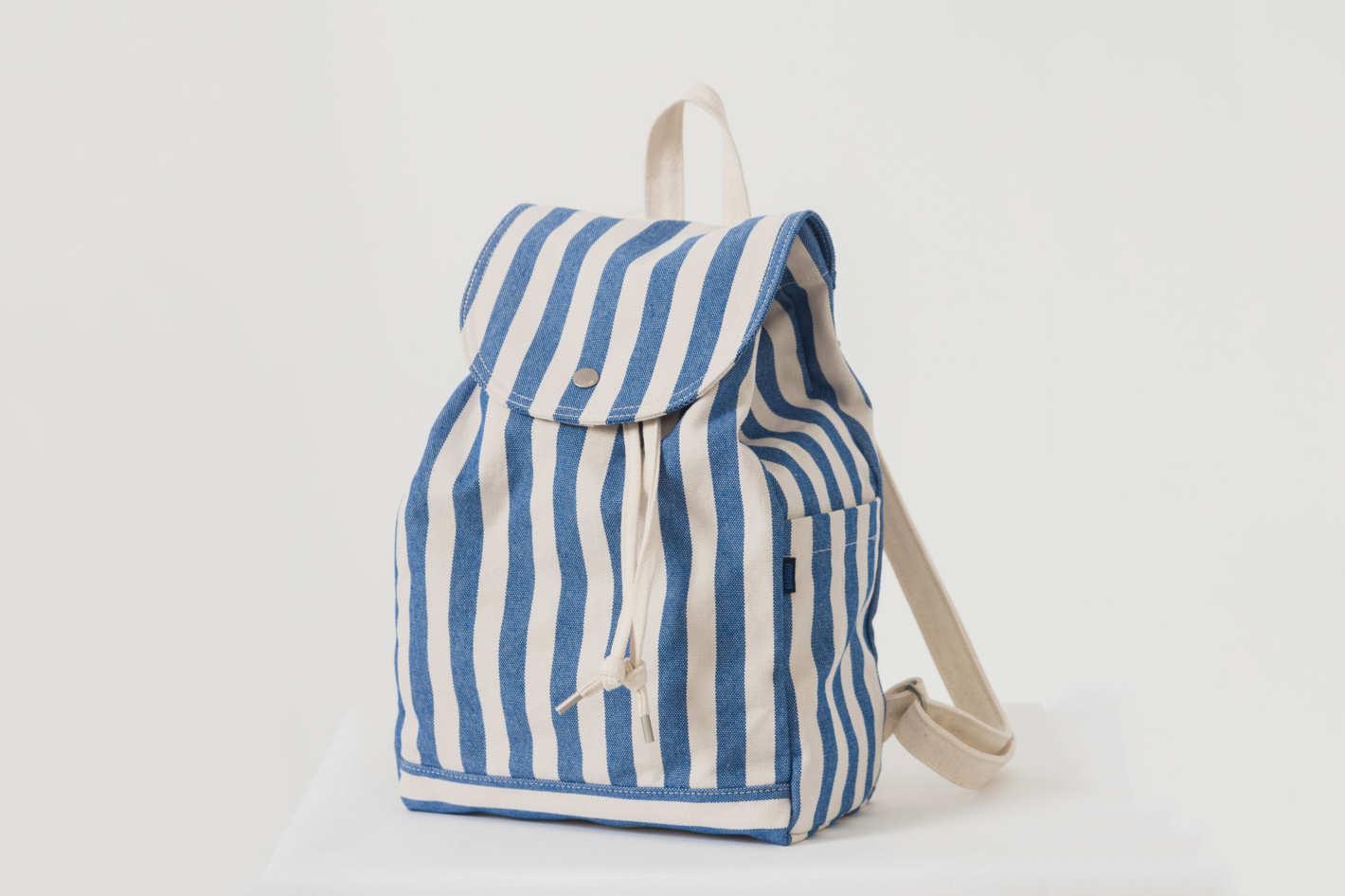 Baggu Drawstring Backpack in Summer Stripe