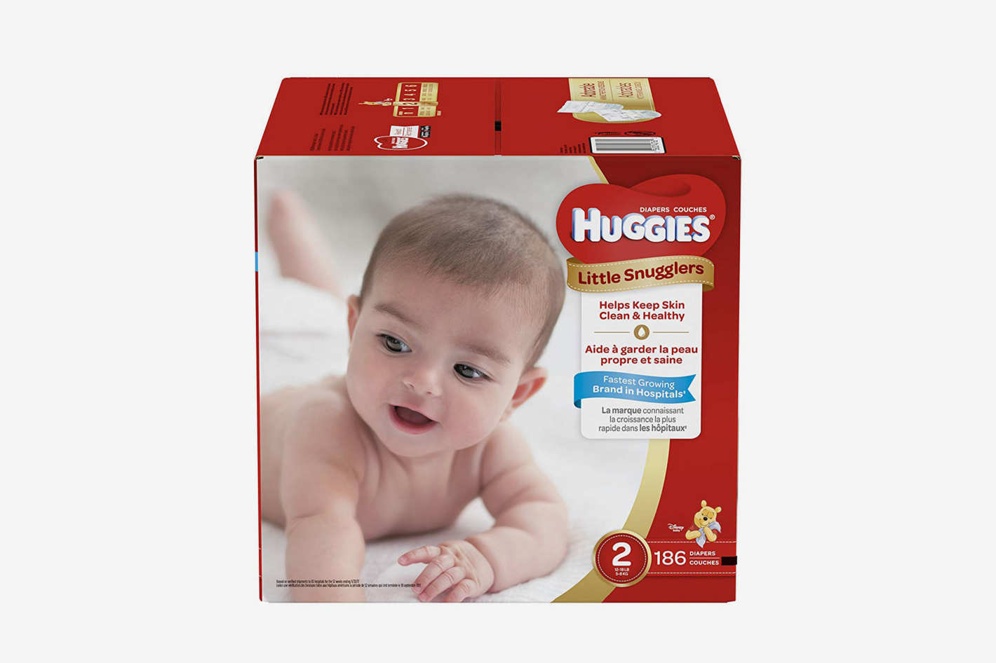 HUGGIES Little Snugglers Baby Diapers, Size 2, for 12-18 lbs, One Month Supply (186 Count)