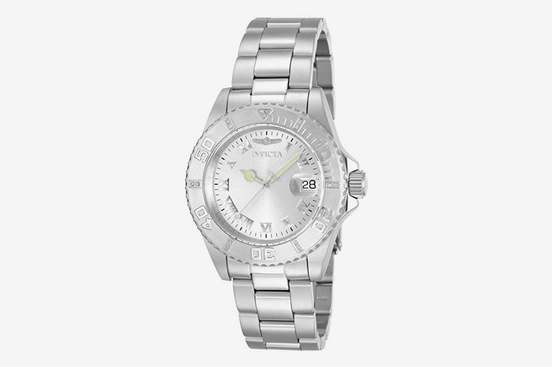 2b78ebadbbc Invicta Women s Pro Diver Silver Dial Diamond Accented Watch