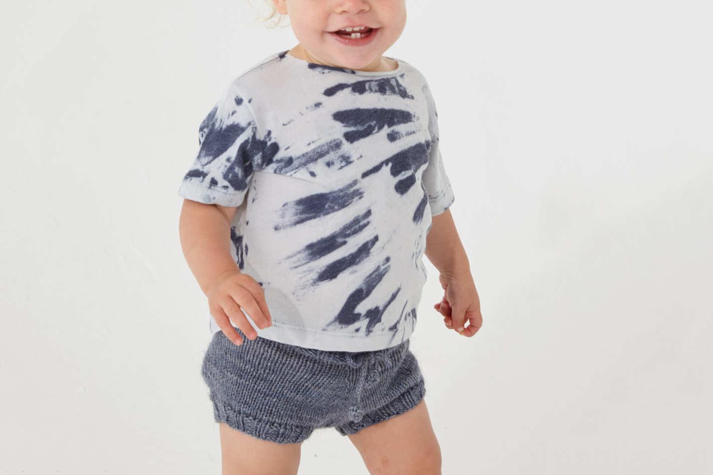 Blue River Tie-Dye Jersey Short-Sleeve Baby Tee