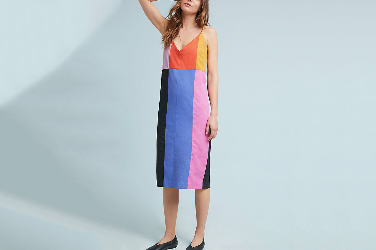 Mara Hoffman Georgia Colorblock Slip Dress