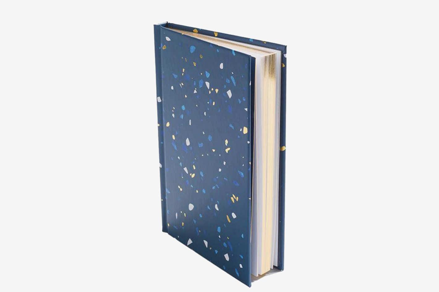 Poketo Terrazzo Notebook in Navy
