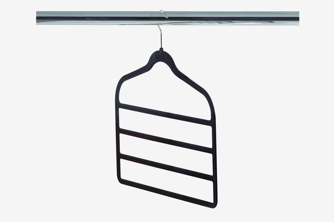 Neatfreak 4-Tier Felt Pant Hanger, Black, 3-Count