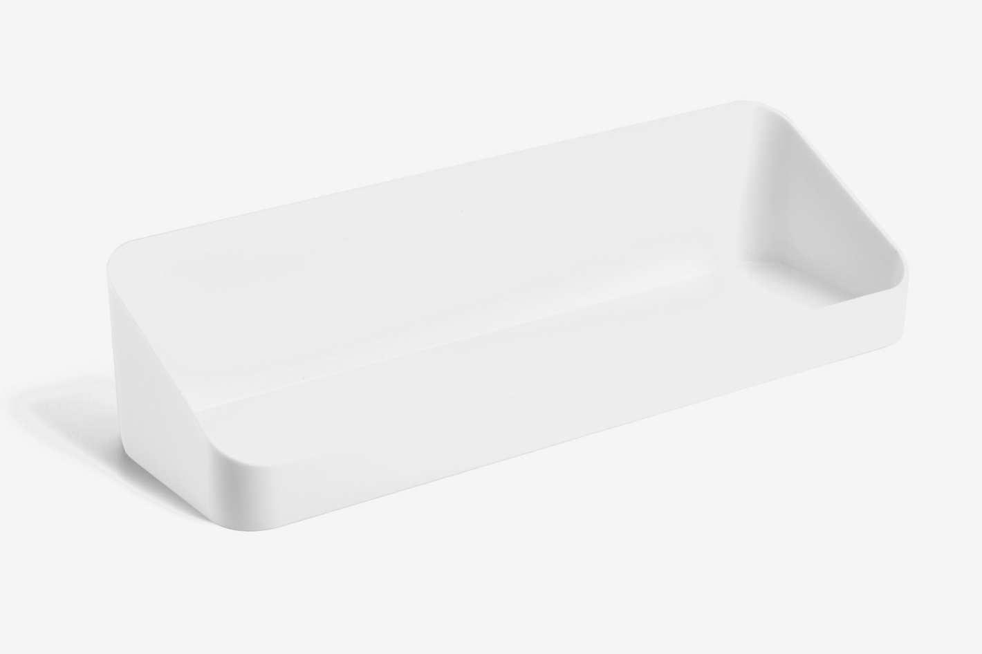 Poppin White Wall Shelf