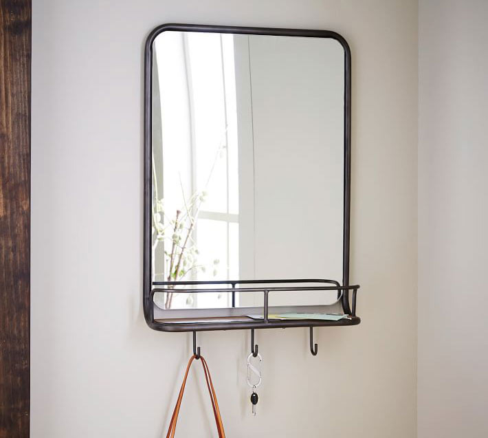 West Elm Entryway Mirror + Hooks