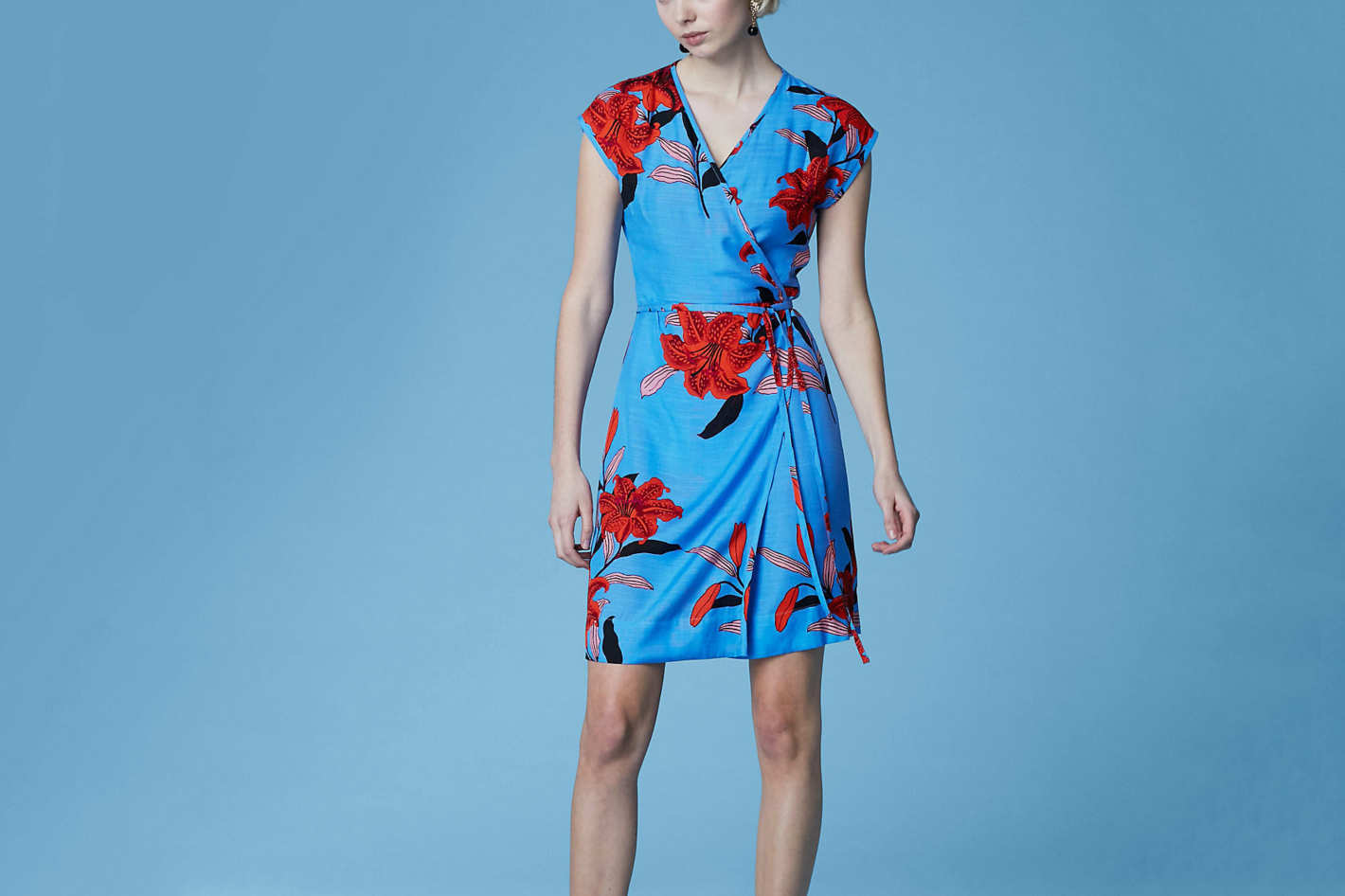 Diane von Furstenberg Side Tie Wrap Dress