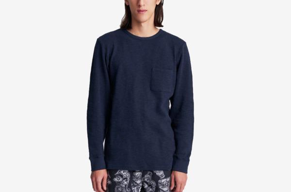 Saturdays NYC James Waffle Long Sleeve Shirt