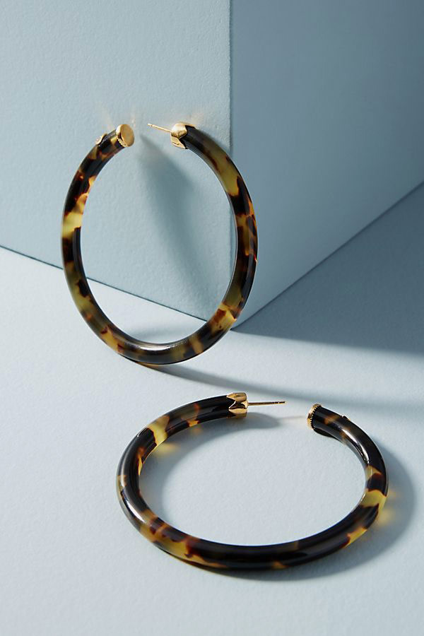 Gas Bijoux Thin Tortoise Hoop Earrings