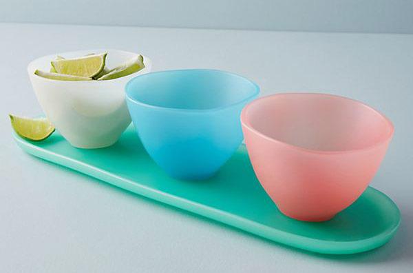 Croatian Sunrise Serving Bowls, Set of 3