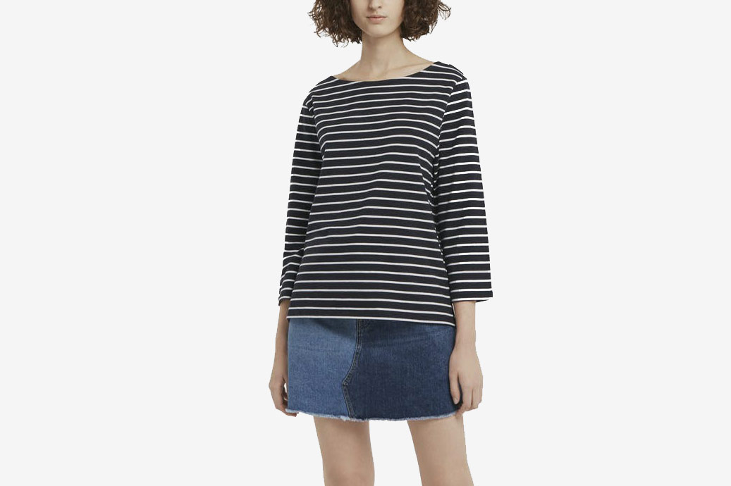 French Connection Tim Tim Breton Striped Top