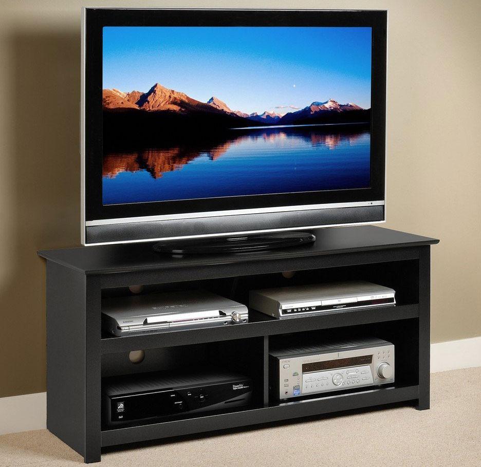 Prepac Black Vasari Flat Panel Plasma/LCD TV Console