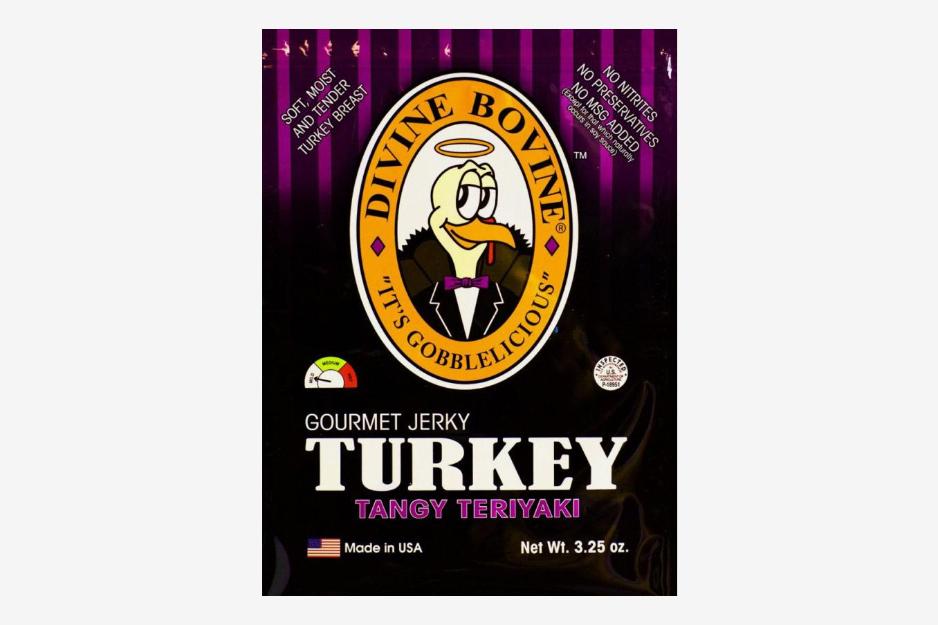 Divine Bovine Tangy Teriyaki Turkey Jerky