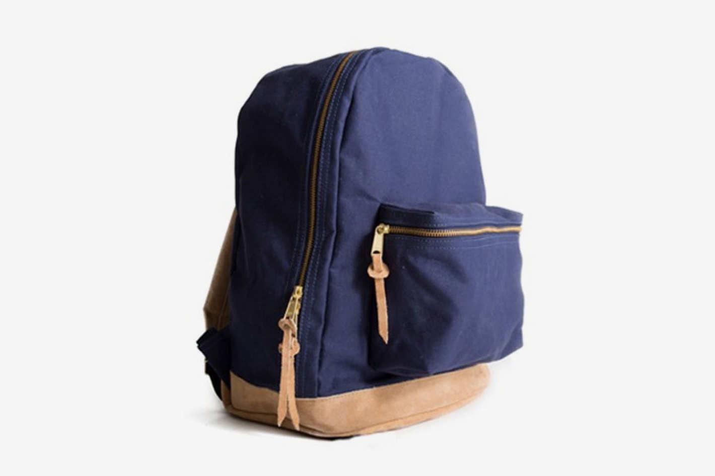 Kaufmann Mercantile Canvas & Suede Backpack